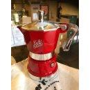 TOP MOKA: Super Top rot, für 2 Tassen mit Piansa-Logo