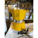 TOP MOKA: Super Top gelb, für 2 Tassen mit Piansa-Logo